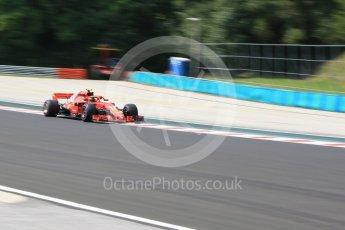 World © Octane Photographic Ltd. Formula 1 – Hungarian GP - Practice 1. Scuderia Ferrari SF71-H – Kimi Raikkonen. Hungaroring, Budapest, Hungary. Friday 27th July 2018.