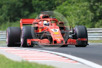 World © Octane Photographic Ltd. Formula 1 – Hungarian GP - Practice 1. Scuderia Ferrari SF71-H – Sebastian Vettel. Hungaroring, Budapest, Hungary. Friday 27th July 2018.