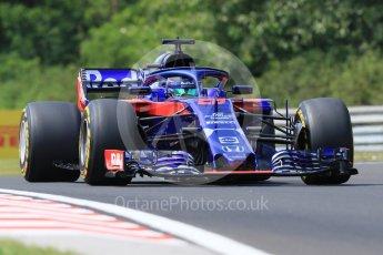 World © Octane Photographic Ltd. Formula 1 – Hungarian GP - Practice 1. Scuderia Toro Rosso STR13 – Brendon Hartley. Hungaroring, Budapest, Hungary. Friday 27th July 2018.