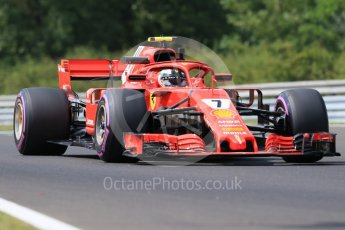 World © Octane Photographic Ltd. Formula 1 – Hungarian GP - Practice 1. Scuderia Ferrari SF71-H – Kimi Raikkonen. Hungaroring, Budapest, Hungary. Friday 27th July 2018.