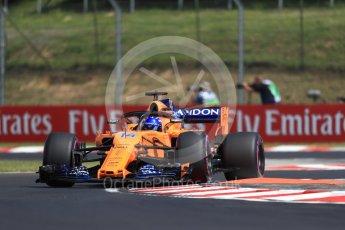 World © Octane Photographic Ltd. Formula 1 – Hungarian GP - Practice 1. McLaren MCL33 – Fernando Alonso. Hungaroring, Budapest, Hungary. Friday 27th July 2018.