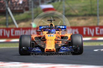 World © Octane Photographic Ltd. Formula 1 – Hungarian GP - Practice 1. McLaren MCL33 – Fernando Alonso. Hungaroring, Budapest, Hungary. Friday 27th July 2018.