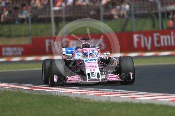 World © Octane Photographic Ltd. Formula 1 – Hungarian GP - Practice 1. Sahara Force India VJM11 - Sergio Perez. Hungaroring, Budapest, Hungary. Friday 27th July 2018.