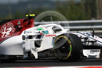 World © Octane Photographic Ltd. Formula 1 – Hungarian GP - Practice 1. Alfa Romeo Sauber F1 Team C37 – Antonio Giovinazzi. Hungaroring, Budapest, Hungary. Friday 27th July 2018.