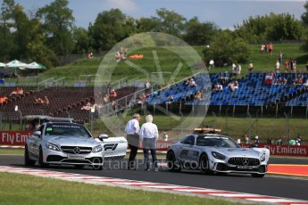 World © Octane Photographic Ltd. Formula 1 – Hungarian GP - Practice 1. Charlie Whiting inspects the kerbs and track. Hungaroring, Budapest, Hungary. Friday 27th July 2018.