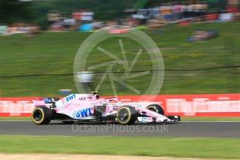 World © Octane Photographic Ltd. Formula 1 – Hungarian GP - Practice 2. Sahara Force India VJM11 - Esteban Ocon. Hungaroring, Budapest, Hungary. Friday 27th July 2018.