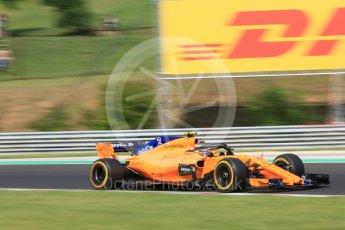 World © Octane Photographic Ltd. Formula 1 – Hungarian GP - Practice 2. McLaren MCL33 – Stoffel Vandoorne. Hungaroring, Budapest, Hungary. Friday 27th July 2018.