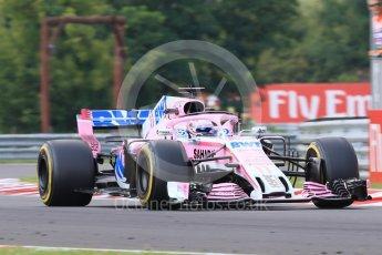 World © Octane Photographic Ltd. Formula 1 – Hungarian GP - Practice 2. Sahara Force India VJM11 - Sergio Perez. Hungaroring, Budapest, Hungary. Friday 27th July 2018.