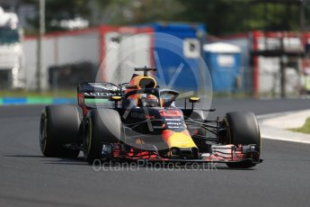 World © Octane Photographic Ltd. Formula 1 – Hungarian GP - Practice 2. Aston Martin Red Bull Racing TAG Heuer RB14 – Daniel Ricciardo. Hungaroring, Budapest, Hungary. Friday 27th July 2018.