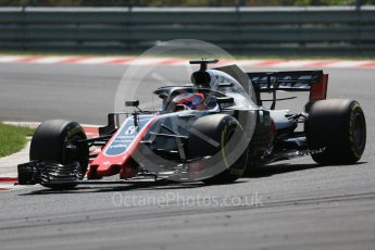 World © Octane Photographic Ltd. Formula 1 – Hungarian GP - Practice 3. Haas F1 Team VF-18 – Romain Grosjean. Hungaroring, Budapest, Hungary. Saturday 28th July 2018.