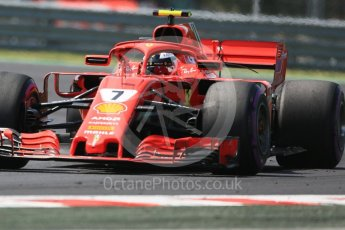 World © Octane Photographic Ltd. Formula 1 – Hungarian GP - Practice 3. Scuderia Ferrari SF71-H – Kimi Raikkonen. Hungaroring, Budapest, Hungary. Saturday 28th July 2018.