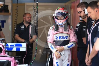 World © Octane Photographic Ltd. Formula 1 – Hungarian GP - Practice 3. Sahara Force India VJM11 - Sergio Perez. Hungaroring, Budapest, Hungary. Saturday 28th July 2018.