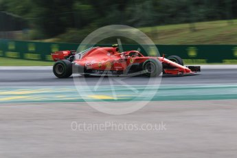 World © Octane Photographic Ltd. Formula 1 – Hungarian GP - Qualifying. Scuderia Ferrari SF71-H – Kimi Raikkonen. Hungaroring, Budapest, Hungary. Saturday 28th July 2018.