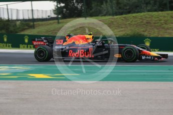 World © Octane Photographic Ltd. Formula 1 – Hungarian GP - Qualifying. Aston Martin Red Bull Racing TAG Heuer RB14 – Max Verstappen. Hungaroring, Budapest, Hungary. Saturday 28th July 2018.