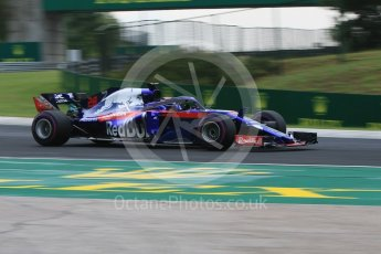 World © Octane Photographic Ltd. Formula 1 – Hungarian GP - Qualifying. Scuderia Toro Rosso STR13 – Brendon Hartley. Hungaroring, Budapest, Hungary. Saturday 28th July 2018.