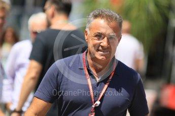World © Octane Photographic Ltd. Formula 1 – Hungarian GP - Paddock. Jean Alesi. Hungaroring, Budapest, Hungary. Sunday 29th July 2018.