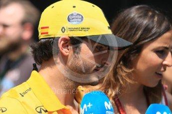 World © Octane Photographic Ltd. Formula 1 – Hungarian GP - Paddock. Renault Sport F1 Team RS18 – Carlos Sainz. Hungaroring, Budapest, Hungary. Sunday 29th July 2018.