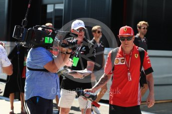 World © Octane Photographic Ltd. Formula 1 – Hungarian GP - Paddock. Scuderia Ferrari – Kimi Raikkonen. Hungaroring, Budapest, Hungary. Sunday 29th July 2018.