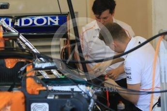 World © Octane Photographic Ltd. Formula 1 – Hungarian GP - Paddock. McLaren MCL33. Hungaroring, Budapest, Hungary. Sunday 29th July 2018.