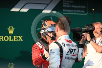 World © Octane Photographic Ltd. GP3 – Hungarian GP – Race 1. ART Grand Prix - Nikita Mazepin and Campos Racing – Leodardo Pulcini. Hungaroring, Budapest, Hungary. Saturday 28th July 2018.