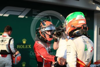 World © Octane Photographic Ltd. GP3 – Hungarian GP – Race 1. ART Grand Prix - Nikita Mazepin and Anthoine Hubert. Hungaroring, Budapest, Hungary. Saturday 28th July 2018.