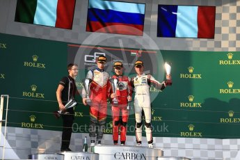 World © Octane Photographic Ltd. GP3 – Hungarian GP – Race 1. ART Grand Prix - Nikita Mazepin and Anthoine Hubert, Campos Racing – Leodardo Pulcini. Hungaroring, Budapest, Hungary. Saturday 28th July 2018.