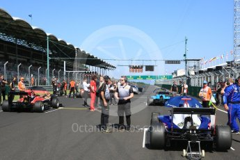 World © Octane Photographic Ltd. GP3 – Hungarian GP – Race 2. Grid atmosphere. Hungaroring, Budapest, Hungary. Sunday 29th July 2018.