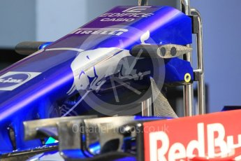 World © Octane Photographic Ltd. Formula 1 – Hungarian GP - Pitlane. Scuderia Toro Rosso STR13. Hungaroring, Budapest, Hungary. Thursday 26th July 2018.