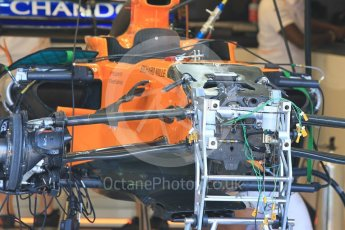 World © Octane Photographic Ltd. Formula 1 – Hungarian GP - Pitlane. McLaren MCL33. Hungaroring, Budapest, Hungary. Thursday 26th July 2018.