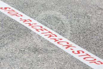 World © Octane Photographic Ltd. Formula 1 – Hungarian GP - Track Walk. Racetrack start marking. Hungaroring, Budapest, Hungary. Thursday 26th July 2018.