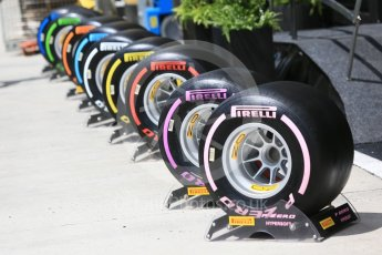 World © Octane Photographic Ltd. Formula 1 – Hungarian GP - Track walk. Pirelli tyre range. Hungaroring, Budapest, Hungary. Thursday 26th July 2018.