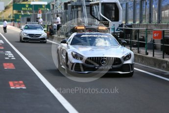 World © Octane Photographic Ltd. Formula 1 – Hungarian GP - Pit Lane. Mercedes AMG Safety and Race Control cars. Hungaroring, Budapest, Hungary. Thursday 26th July 2018.