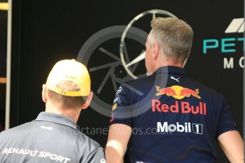 World © Octane Photographic Ltd. Formula 1 - Hungarian GP - Paddock. Jonathan Wheatley - Team Manager of Red Bull Racing heads into the Mercedes Media centre. Hungaroring, Budapest, Hungary. Thursday 26th July 2018.