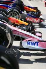 World © Octane Photographic Ltd. Formula 1 – Hungarian GP - Pit Lane. Sahara Force India VJM11. Hungaroring, Budapest, Hungary. Thursday 26th July 2018.