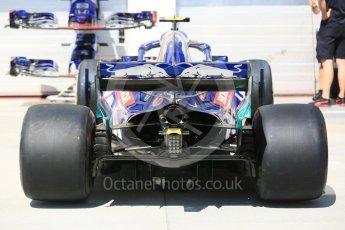 World © Octane Photographic Ltd. Formula 1 – Hungarian GP - Pit Lane. Scuderia Toro Rosso STR13. Hungaroring, Budapest, Hungary. Thursday 26th July 2018.