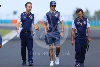 World © Octane Photographic Ltd. Formula 1 – Hungarian GP - Track Walk. Williams Martini Racing FW41 – Lance Stroll. Hungaroring, Budapest, Hungary. Thursday 26th July 2018.