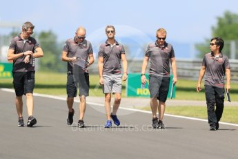 World © Octane Photographic Ltd. Formula 1 – Hungarian GP - Track Walk. Haas F1 Team VF-18 – Romain Grosjean. Hungaroring, Budapest, Hungary. Thursday 26th July 2018.