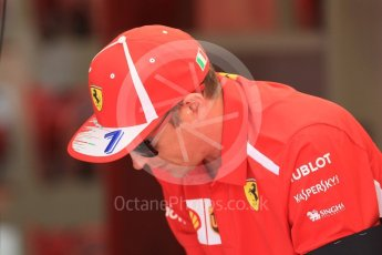 World © Octane Photographic Ltd. Formula 1 – Hungarian GP - Pit Lane. Scuderia Ferrari SF71-H – Kimi Raikkonen. Hungaroring, Budapest, Hungary. Thursday 26th July 2018.