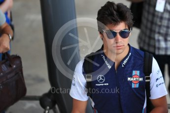 World © Octane Photographic Ltd. Formula 1 – Hungarian GP - Paddock. Williams Martini Racing – Lance Stroll. Hungaroring, Budapest, Hungary. Thursday 26th July 2018.
