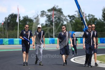 World © Octane Photographic Ltd. Formula 1 – Hungarian GP - Track walk. Sahara Force India - Esteban Ocon. Hungaroring, Budapest, Hungary. Thursday 26th July 2018.