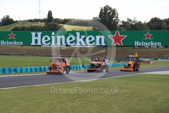 World © Octane Photographic Ltd. Formula 1 – Hungarian GP. Cleaning the circuit. Hungaroring, Budapest, Hungary. Thursday 26th July 2018.
