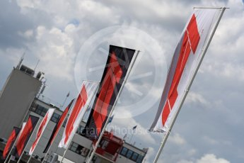 World © Octane Photographic Ltd. Formula 1 – Hungarian GP - Track walk. Formula 1 flag. Hungaroring, Budapest, Hungary. Thursday 26th July 2018.