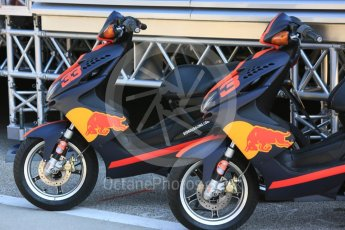 World © Octane Photographic Ltd. Formula 1 – Hungarian Post-Race Test - Day 1. Aston Martin Red Bull Racing mopeds. Hungaroring, Budapest, Hungary. Tuesday 31st July 2018.