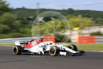World © Octane Photographic Ltd. Formula 1 – Hungarian Post-Race Test - Day 1. Alfa Romeo Sauber F1 Team C37 – Marcus Ericsson. Hungaroring, Budapest, Hungary. Tuesday 31st July 2018.