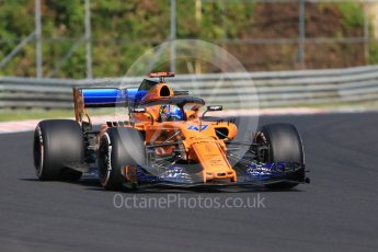 World © Octane Photographic Ltd. Formula 1 – Hungarian Post-Race Test - Day 1. McLaren MCL33 – Lando Norris. Hungaroring, Budapest, Hungary. Tuesday 31st July 2018.