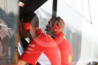 World © Octane Photographic Ltd. Formula 1 – Hungarian Post-Race Test - Day 1. Scuderia Ferrari Jock Clear – Chief Engineer. Hungaroring, Budapest, Hungary. Tuesday 31st July 2018.