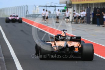 World © Octane Photographic Ltd. Formula 1 – Hungarian Post-Race Test - Day 1. Sahara Force India VJM11 – Nicholas Latifi and McLaren MCL33 – Lando Norris. Hungaroring, Budapest, Hungary. Tuesday 31st July 2018.