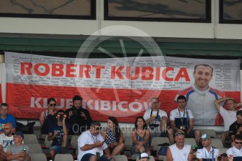 World © Octane Photographic Ltd. Formula 1 – Hungarian Post-Race Test - Day 2. Williams Martini Racing – Robert Kubica fans. Hungaroring, Budapest, Hungary. Wednesday 1st August 2018.