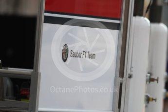 World © Octane Photographic Ltd. Formula 1 – Hungarian Post-Race Test - Day 2. Alfa Romeo Sauber F1 Team logo. Hungaroring, Budapest, Hungary. Wednesday 1st August 2018.
