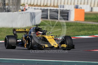 World © Octane Photographic Ltd. Formula 1 – In season test 1, day 2. Renault Sport F1 Team RS18 – Sean Gelael. Circuit de Barcelona-Catalunya, Spain. Wednesday 16th May 2018.